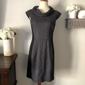 Black Sacs Fifth Ave Tweed front bodycon dress 8